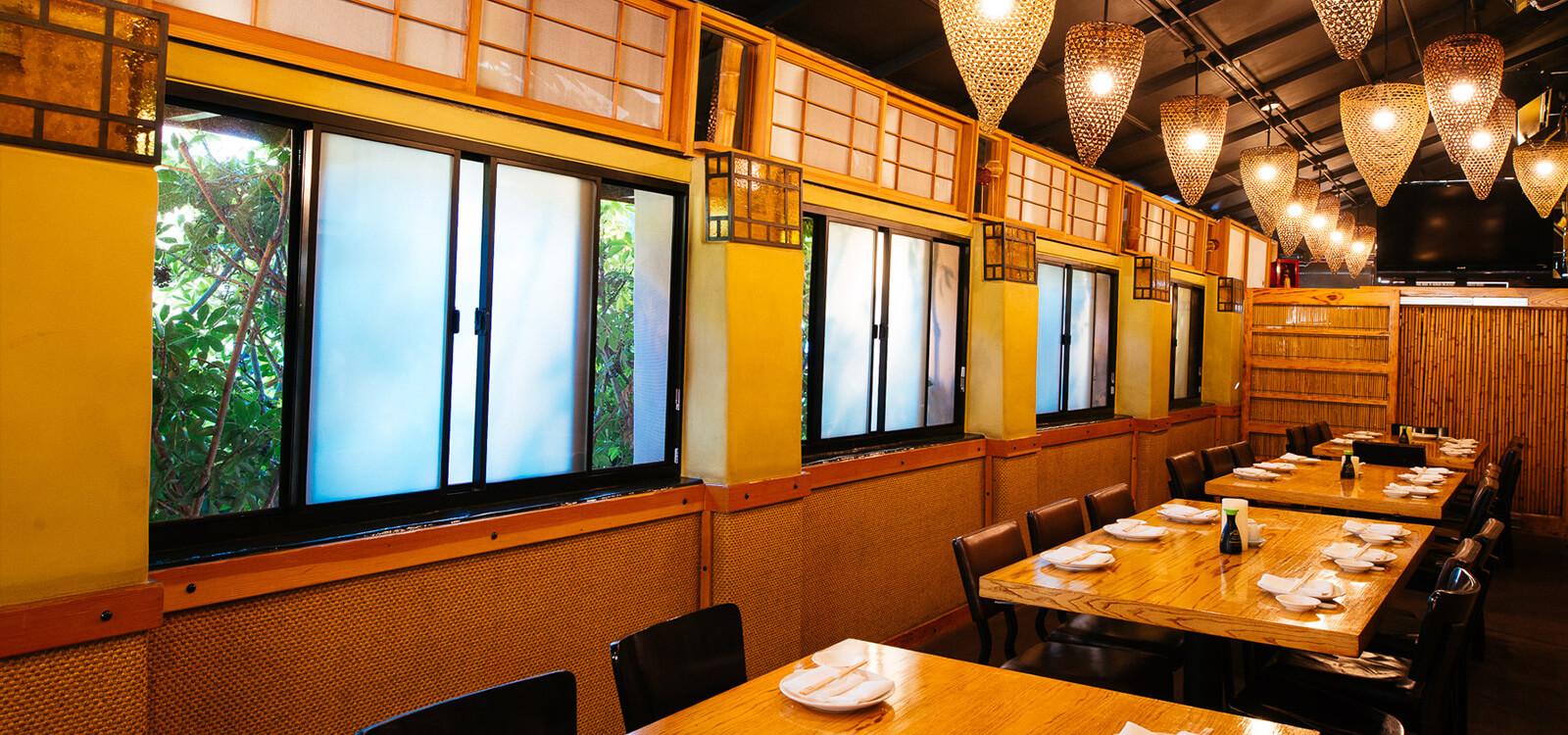 Indoor Patio of Matsuhisa beverlyhills restaurant