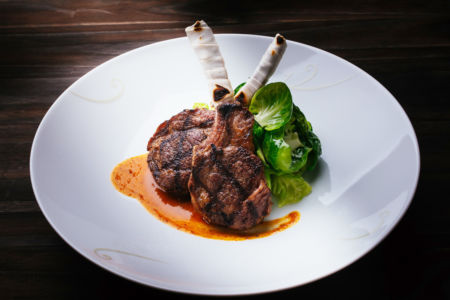 Lamb Chops with Miso Anticucho