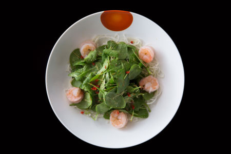 Dry Miso Salad with Shrimp