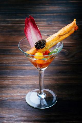 Seafood Springroll with Caviar