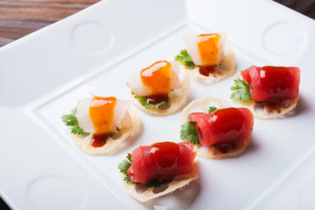 Sashimi Chips with Spicy Miso Sauce